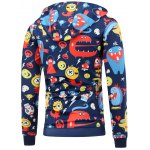 cheap Cartoon Print Pocket Front Pullover Hoodie