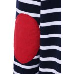 Elbow Patch Striped Sweatshirt for sale