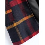Hooded Plaid Woolen Coat photo
