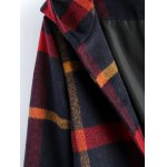 Hooded Plaid Woolen Coat deal