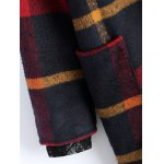 best Hooded Plaid Woolen Coat