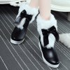 PU Leather Bowknot Fuzzy Platform Boots deal