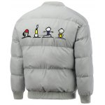 cheap Snap Front Cartoon Embroidered Padded Jacket