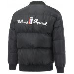 cheap Embroidered Snap Front Padded Jacket