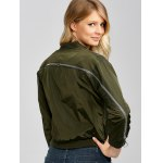Zip Up Cropped Thin Bomber Jacket for sale