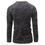 cheap Slim Fit Crew Neck Ribbed Knitted Sweater