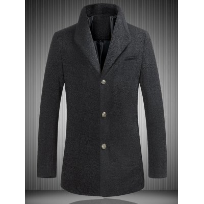 Single Breasted Woolen Coat