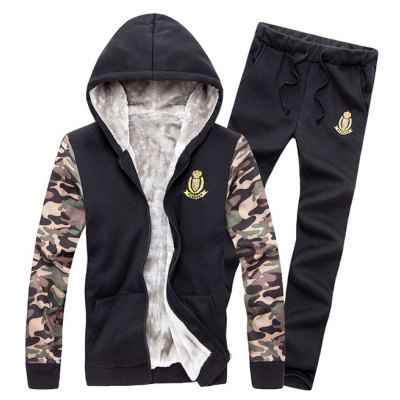 Zip Up Camo Рукав Patch Hoodie TwinSet