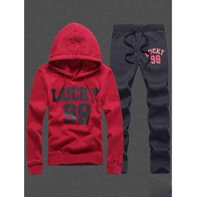 98 Lucky Printed Pullover Hoodie Twinset