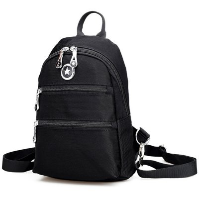 Zip Nylon Metal BackpackWomens Bags<br>Zip Nylon Metal Backpack<br><br>Handbag Type: Backpack<br>Style: Casual<br>Gender: For Women<br>Pattern Type: Solid<br>Closure Type: Zipper<br>Occasion: Versatile<br>Main Material: Nylon<br>Hardness: Soft<br>Weight: 1.200kg<br>Size(CM)(L*W*H): 19*8*27<br>Package Contents: 1 x Backpack
