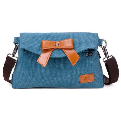 Canvas Fold Over Crossbody Bag
