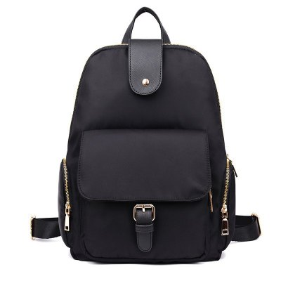 Buckle Strap Nylon Backpack