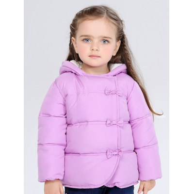 Hooded Bowknot Puffer Jacket