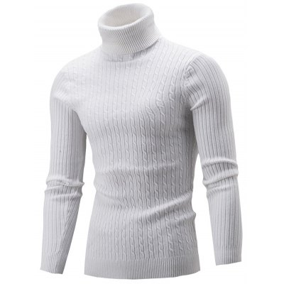 Roll Neck Cable Knitted Sweater