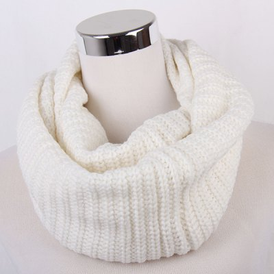 Winter Loose Knitted Infinity Scarf