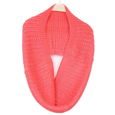 Winter Twisted Knitted Infinity Scarf