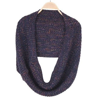 Winter Color Mixed Knitted Infinity Scarf