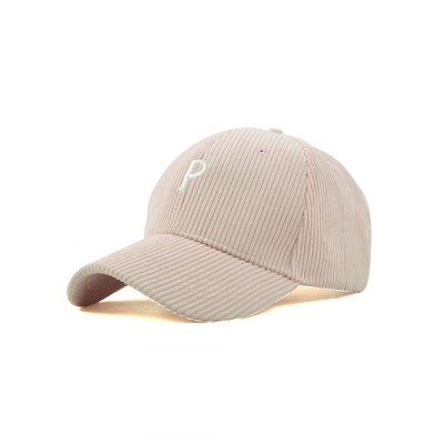 Chic Corduroy P Embroidered Cap