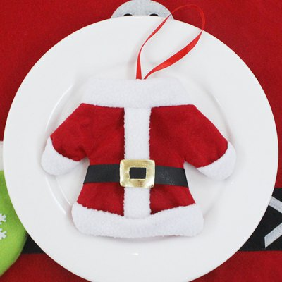 Christmas Table Decor Santa Clothes Tableware Holder BagTable Accessories<br>Christmas Table Decor Santa Clothes Tableware Holder Bag<br><br>Event &amp; Party Item Type: Party Decoration<br>Occasion: Christmas,Party<br>Size(L*W)(CM): 12*17<br>Weight: 0.030kg<br>Package Contents: 1 x Tableware Bag