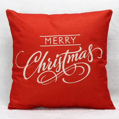 Merry Christmas Letters Pillow Case