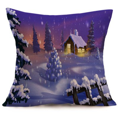 Winter Snowing Christmas Cushion Pillow Case
