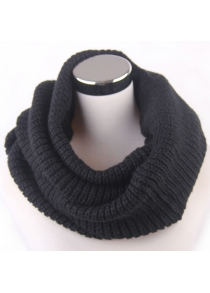 Winter Loose Turtleneck Knitted Infinity Scarf