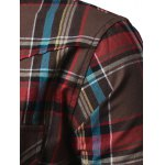 Chest Pocket Button Up Hooded Plaid Shirt photo