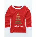Long Sleeve Letters Print Christmas Pajamas deal