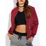 Zipper Padded Bomber Jacket