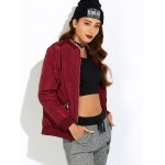 cheap Zipper Padded Bomber Jacket