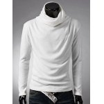 Cowl Neck Thermal Plain T-Shirt