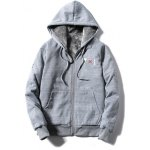 cheap Zip Up Embroidery Hoodie Twinset