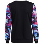 cheap Abstract Color Mixed Letter Print Sweatshirt