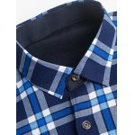 Tartan Print Turndown Collar Flocking Shirt deal