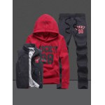 cheap 98 Lucky Printed Pullover Hoodie Three Piece Set