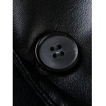 best Pocket One Button Faux Leather Jacket
