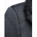 Faux Fur Collar Thicken Single Breasted Flocking Quilted Jacket deal