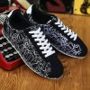 best Letter Pattern Tie Up Casual Shoes