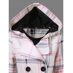 Tie Belt Hooded Plaid Woolen Coat deal