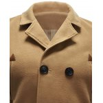 Back Vent Pocket Wool Blend Pea Coat for sale