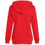 cheap Active Merry Christmas Drawstring Hoodie