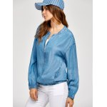 Zippered Long Sleeve denim Jacket deal