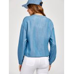 best Zippered Long Sleeve denim Jacket