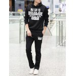 cheap Graphic Printed Pullover Hoodie Twinset