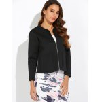 Double Pockets Round Neck Jacket deal