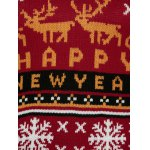 best Christmas Elk Plus Size Graphic Sweater