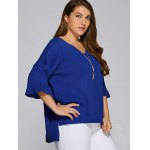 Flare Sleeves High Low Hem Sweater deal