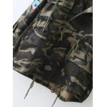 Embroidered Patched Hooded  Camo Utility Coat photo