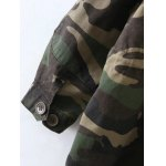 Embroidered Patched Hooded  Camo Utility Coat for sale