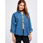 best Pocket Embroidery Denim Shirt